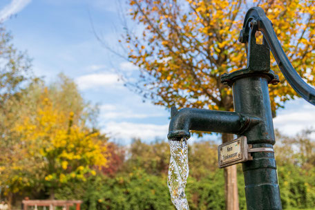 Wasserfilter, Handwasserpumpe