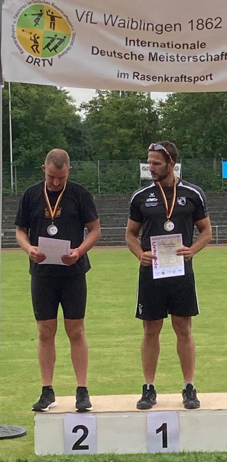 Maik Arend (links) als verdienter Zweiter.
