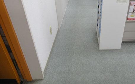 【作業後】オフィスの通路のカーペットクリーニング