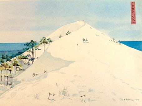"""Jean Paul Alaux, la dune du Pyla, """"les visions japonaises"""" Devambez"""