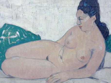 "Fernand Lantoine. ""Peintre Voyageur"". Peinture sur toile.""Tahitienne"""
