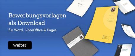 Bewerbungsvorlagen / Lebenslaufvorlage zum Download