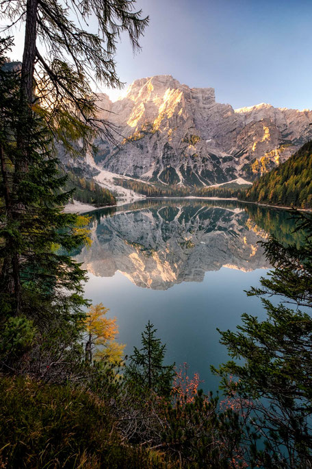 Lago di Braies during autumn