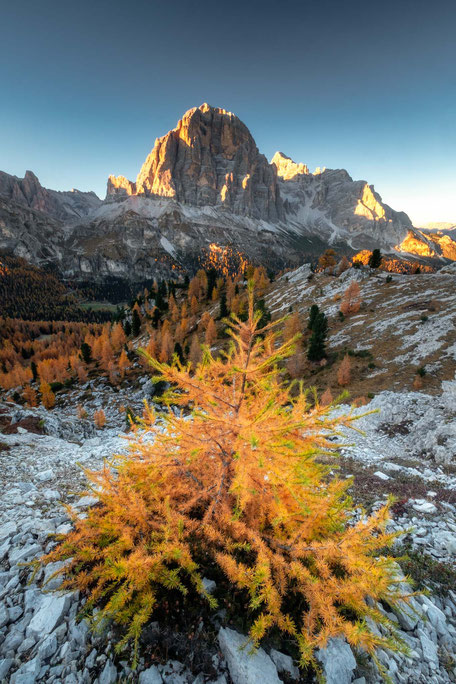 Tofane di Rozes during autumn