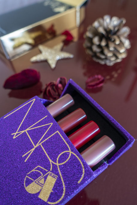 collection de noel nars rouge à levres