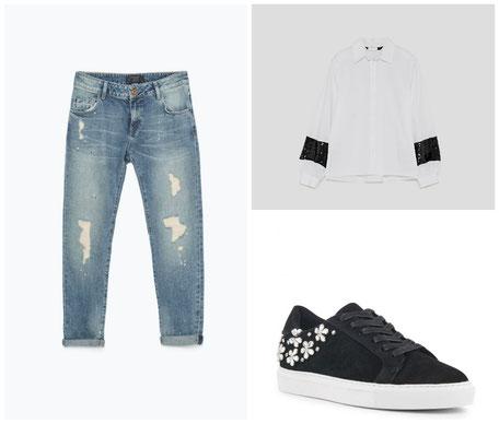 idée de tenue femme jeans basket
