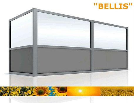 Windschutzwand Modell Bellis