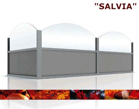 Windschutzwand Modell Salvia