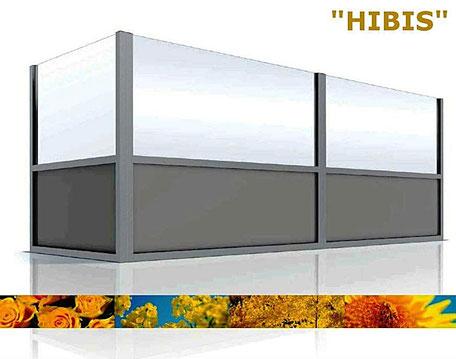 Windschutzwand Modell Hibis