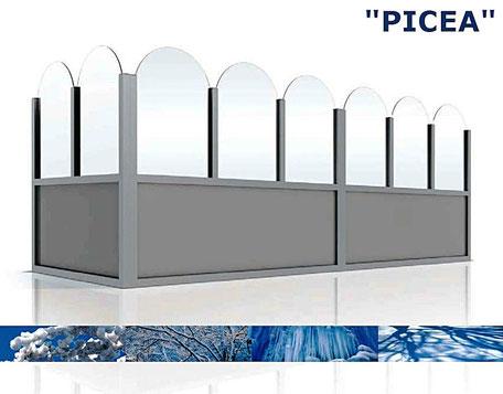 Windschutzwand Modell Picea