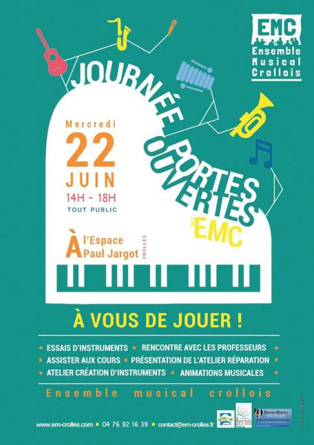 ecole de musique emc crolles-gresivaudan : journée portes ouvertes de juin 2016