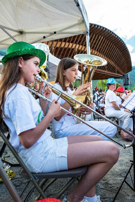 Ecole de musique EMC à Crolles – Grésivaudan : Pratique collective de trombone en orchestre.