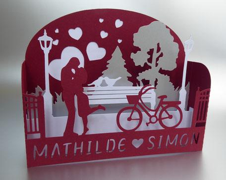 faire-part mariage pop-up - faire-part mariage tableau 3D