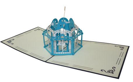 Carte pop-up Manège
