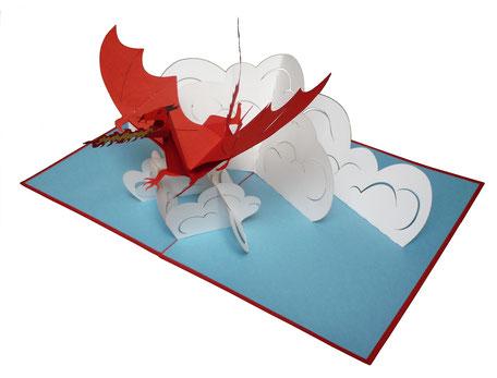 Carte pop-up Dragon - carte d'anniversaire pour enfant