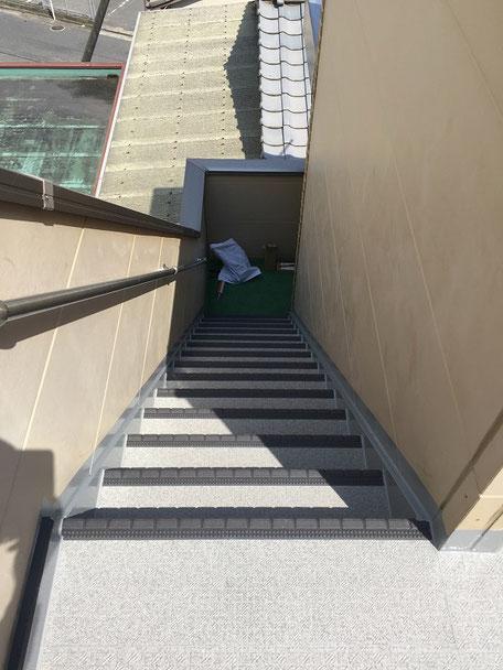 外部階段(防水改修工事後)