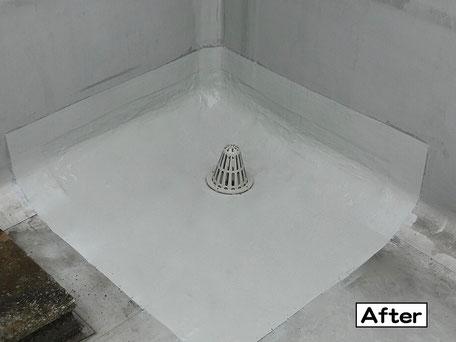 屋上防水(ドレン周り)施工後