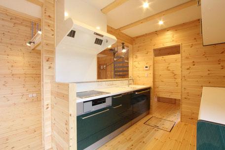 人造大理石キッチン(ハイバックカウンター)
