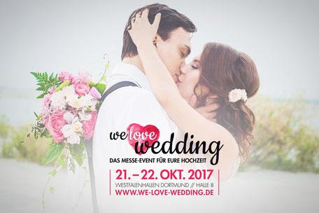 We love wedding - Der Messeevent für Eure Hochzeit. Besucht uns an unserem ANCRAGE Messestand
