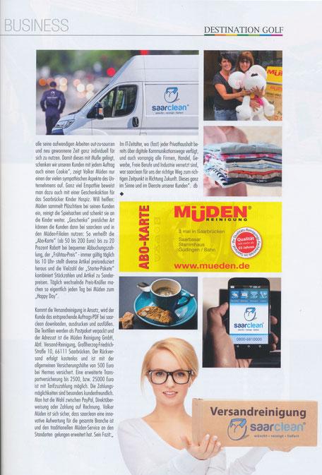 www.saarclean.de, Startseite, Bild #1 Pressebericht Destination Golf
