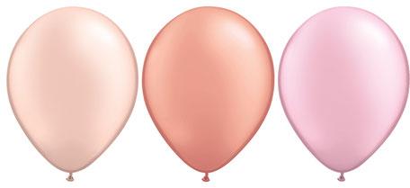 Latexballons in allen Farben, vielen Größen und unterschiedlichen Formen.