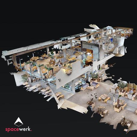 Hafenkäserei Münster - Dollhouse-Ansicht