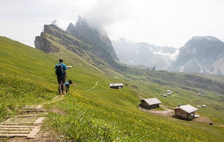 Seceda Wandern in Südtirol Grödnertal