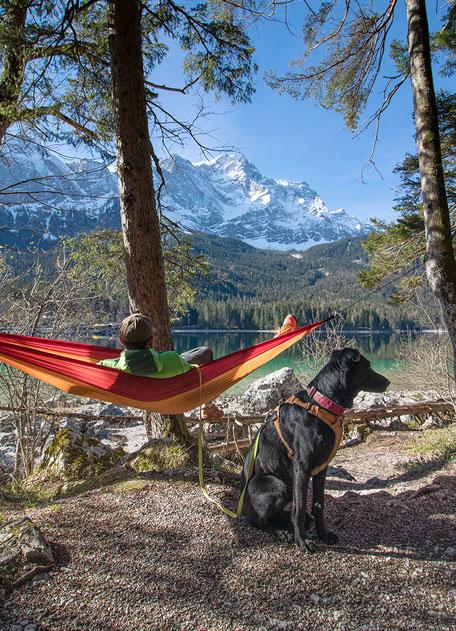 Eibsee Zugspitze Wandern in Bayern Eibseerundweg