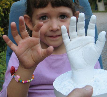 moulage corporel- empreinte de main