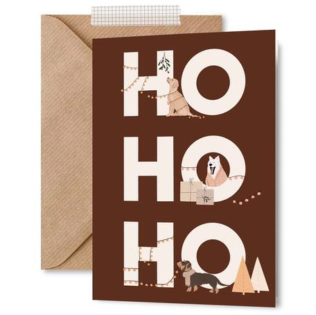 geschenkpapier weihnachten hunde hund dog christmas wrapping paper