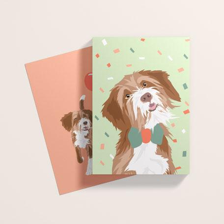 hundeillustration illustrator hunde tierbedarf