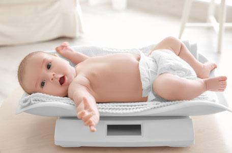 Control de peso bebé