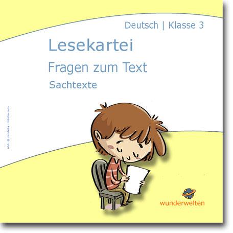 Leseförderung Grundschule Material Klasse 3 Lesekartei Lesetexte mit Fragen kostenlos