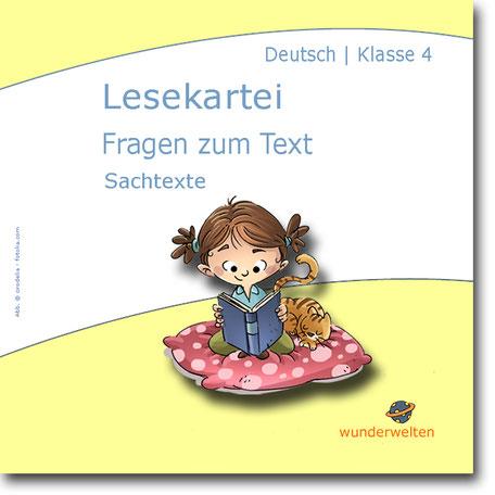 Material für die Leseförderung in der Grundschule: Lesekartei it Fragen zum Text