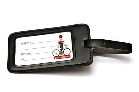 Van Bun Communicatie en Vormgeving - Gepersonaliseerde Wielrenners - etiketten reiskoffers