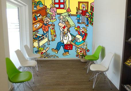 Van Bun Communicatie en Vormgeving - Gepersonaliseerde illustraties - Canvas - Behangpapier - ...