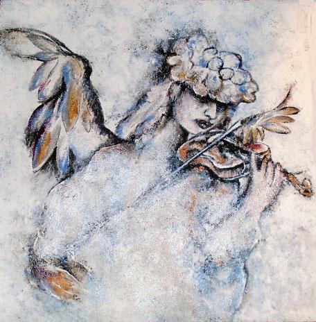 Engel Haniel - Michtechnik auf Leinwand - 90 x 90