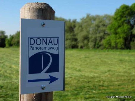 Die Markierung am Donau-Panoramaweg