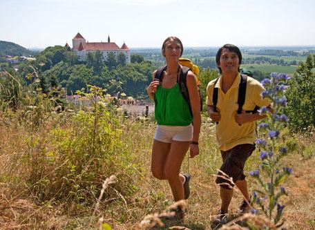 Wanderer an der Lerchenhaube bei Wörth a.d. Donau, Foto: Stefan Gruber