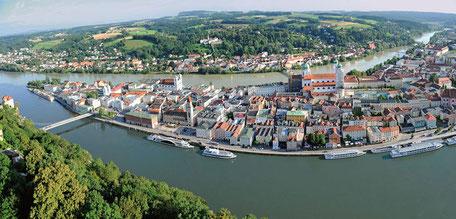 Luftaufnahme Passau, Foto: Passau