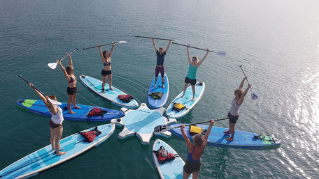 Yoga auf dem Stand Up Paddle Board im SUPoint