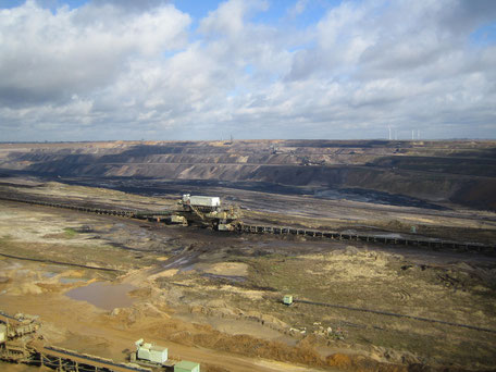Blick in den Tagebau