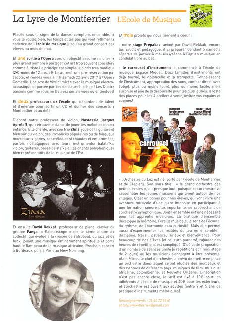 école de musique de montferrier sur lez
