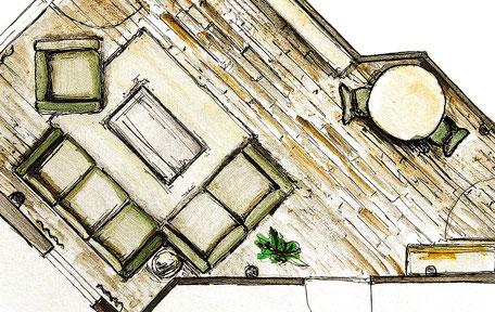 Einrichtungsplanung Grundriss Skizze Büschking Heeslingen