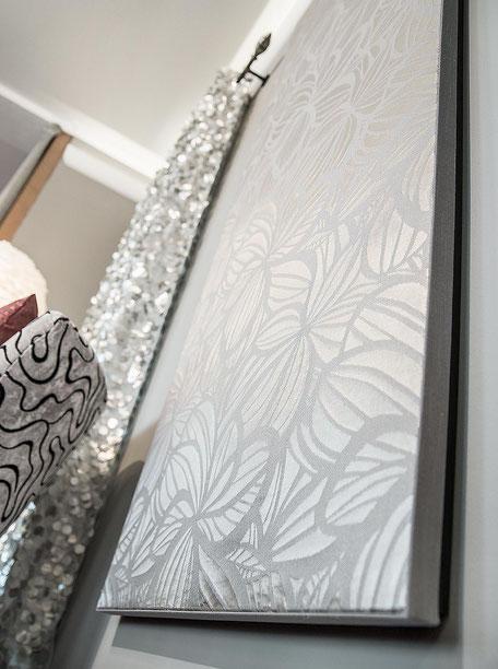 Wandbespannung mit Stoff Akustikverbessernd