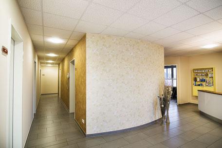 Umgestaltung Zahnarztpraxis Empfangsbereich Büschking Raumkonzept