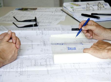 Planungsingenieure bei der Arbeit