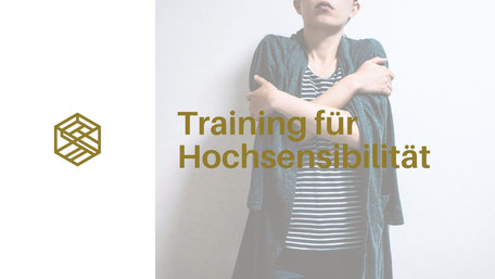 training für Hochsensibilität, HSP, Frau arme verschränkt, Logo Gedankengut Hypnose & Coaching