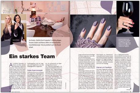 """Unsere Fotos in der Fachzeitschrift """"Hand & Nails"""" im Jahr 2015"""