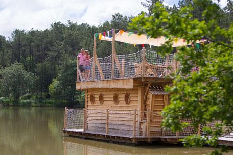 Aqualodge Nature, cabane flottante tout confort pour 2 à 4 personnes